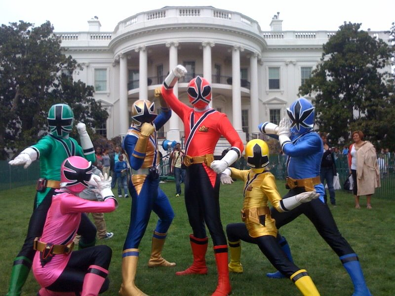Samurai Rangers At The White House Easter Egg Roll